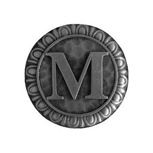 Antique Pewter 'M' Knob , image 1