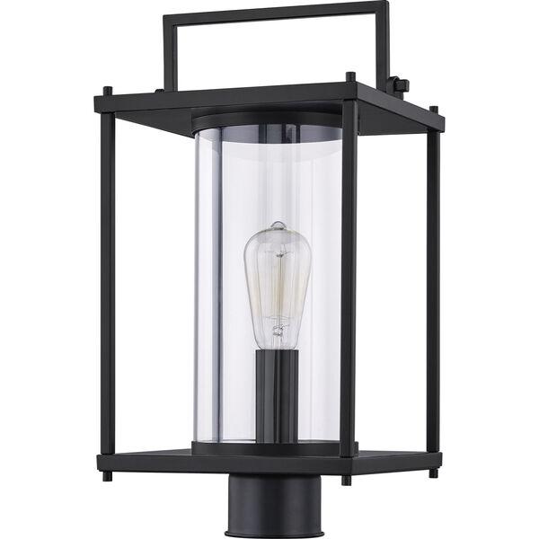 Garrett Matte Black One-Light Outdoor Post Lantern with Transparent Glass, image 6