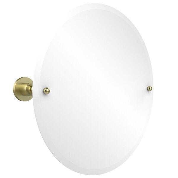 Satin Brass Round Tilt Mirror, image 1