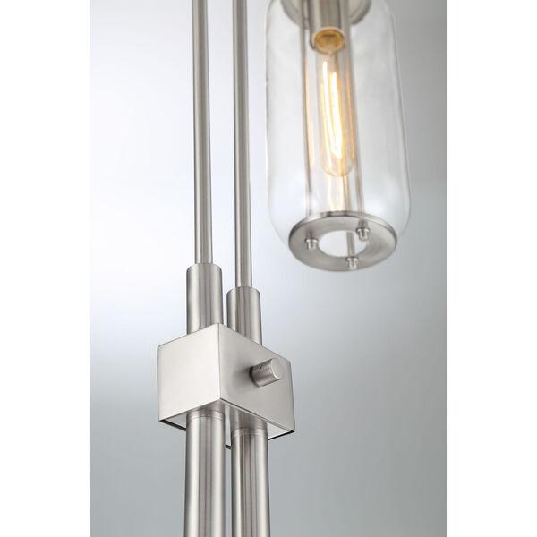 Hagen Brushed Nickel Two-Light Floor Lamp, image 2