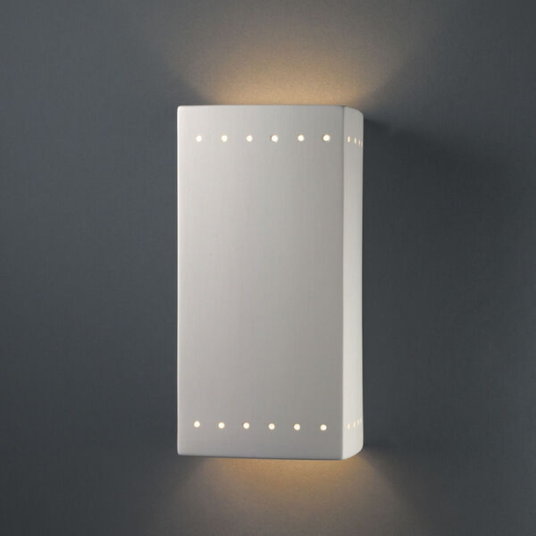 Ambiance Bisque Seven-Inch Closed Top and Bottom GU24 LED Rectangle Outdoor Wall Sconce, image 2