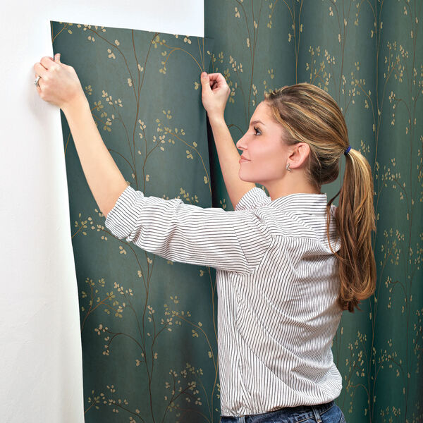 Inspired by Color Teal, Bronze Metallic and Powder Green Wallpaper, image 5