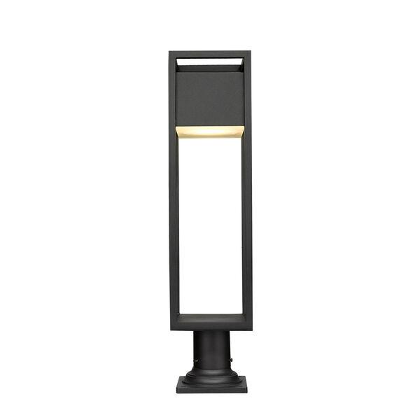 Barwick Black 29-Inch One-Light LED Outdoor Pier Mount, image 4