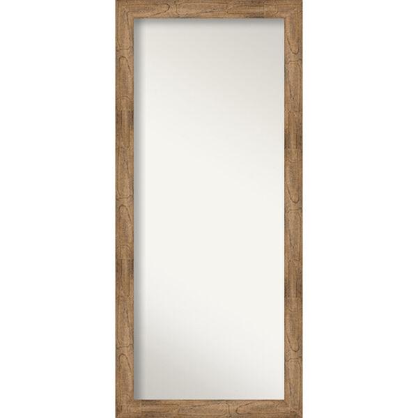 Brown 29-Inch Floor Mirror, image 1
