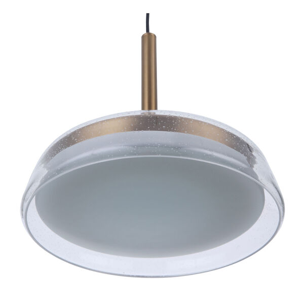 Centric Satin Brass 14-Inch LED Pendant, image 4
