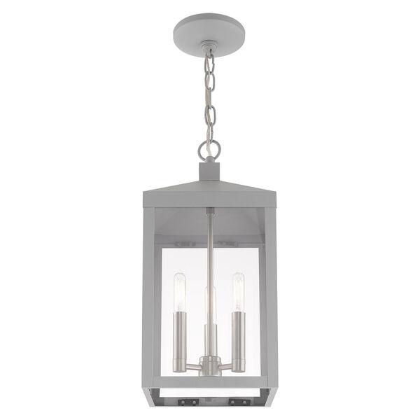 Nyack Nordic Gray Eight-Inch Three-Light Pendant Lantern, image 5