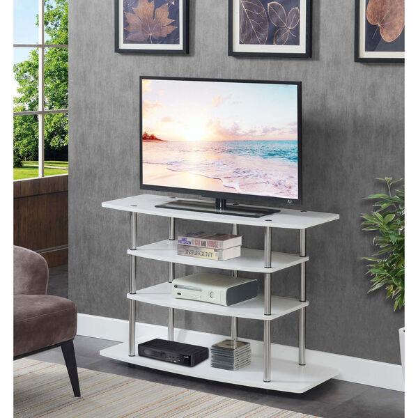 Design2Go White 42-Inch TV Stand, image 2