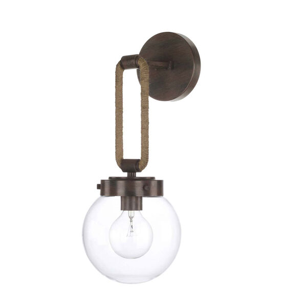 Beaufort Nordic Grey Seven-Inch One-Light Sconce, image 1