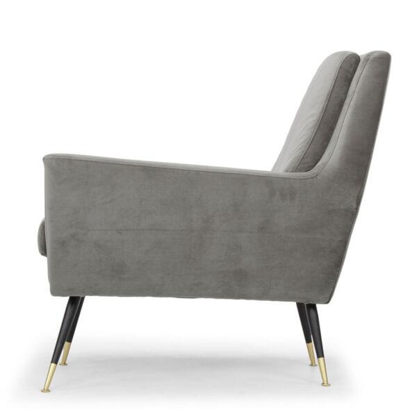 Vanessa Smoke Gray and Black Occasional Chair, image 3