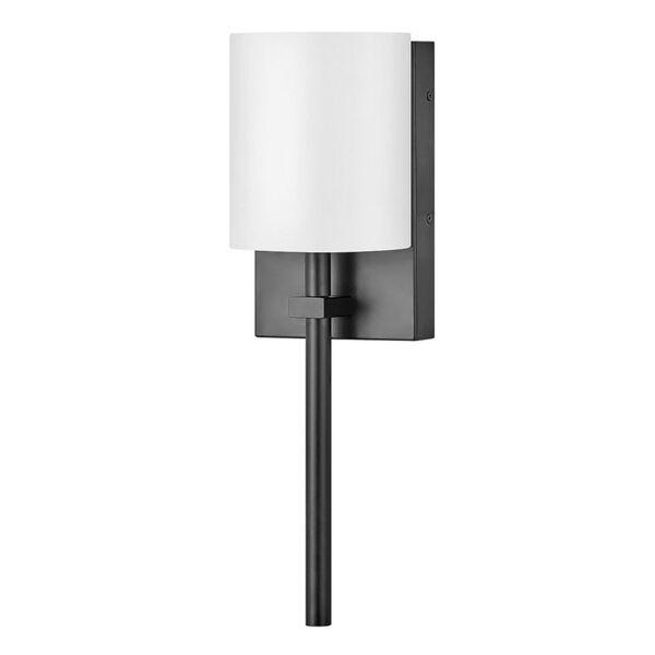 Avenue Black One-Light LED Wall Sconce with White Acrylic Shade, image 1