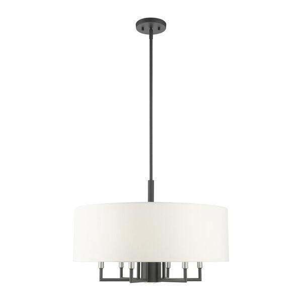 Meridian Scandinavian Gray Seven-Light Chandelier, image 3