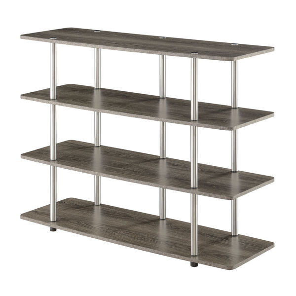 Designs2Go Weathered Gray Highboy Four-Tier TV Stand, image 1