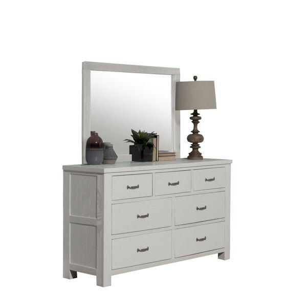 Highlands White 7 Drawer Dresser With Mirror, image 2
