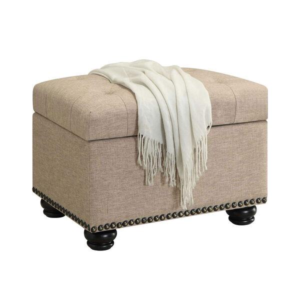 Designs4Comfort Tan Storage Ottoman, image 2