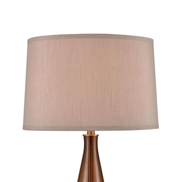 Sydens Orange Amber Antique Brass One-Light Table Lamp, image 3