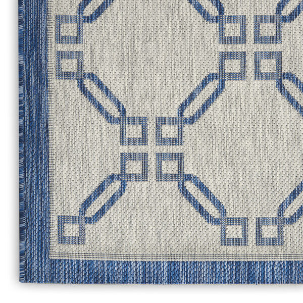 Garden Party Blue and Ivory 7 Ft. x 10 Ft. Indoor/Outdoor Rectangle Area Rug, image 5