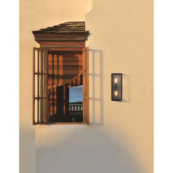 Ira Vintage Bronze Two-Light Outdoor Wall Lantern, image 2