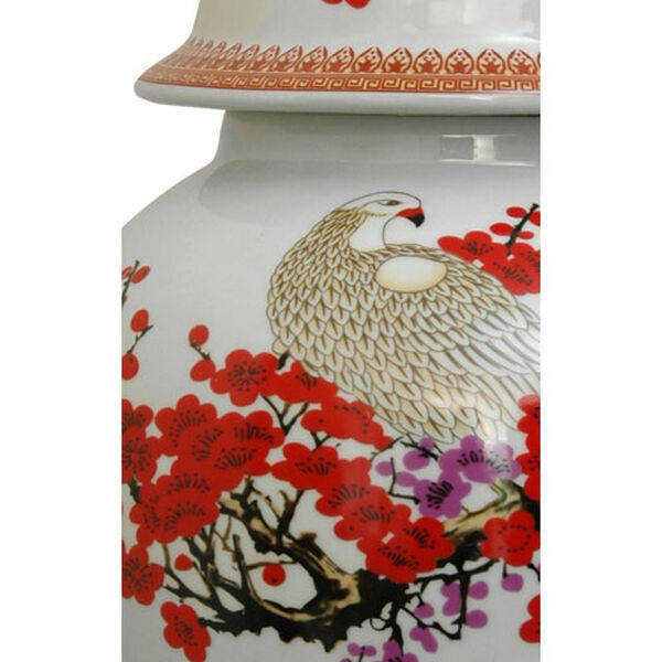 18 Inch Porcelain Temple Jar Cherry Blossom, Width - 10 Inches, image 3