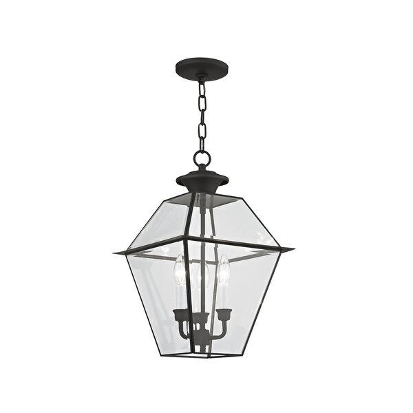 Westover Black Three-Light Outdoor Chain Hang, image 1