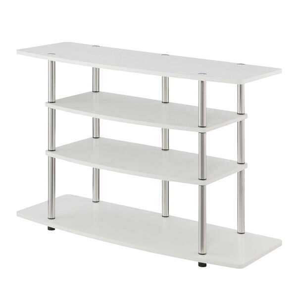 Design2Go White 42-Inch TV Stand, image 1