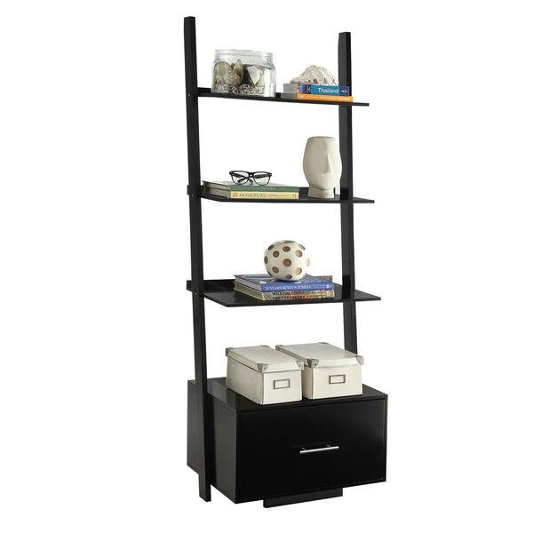 American Heritage Black Ladder Bookshelf, image 2