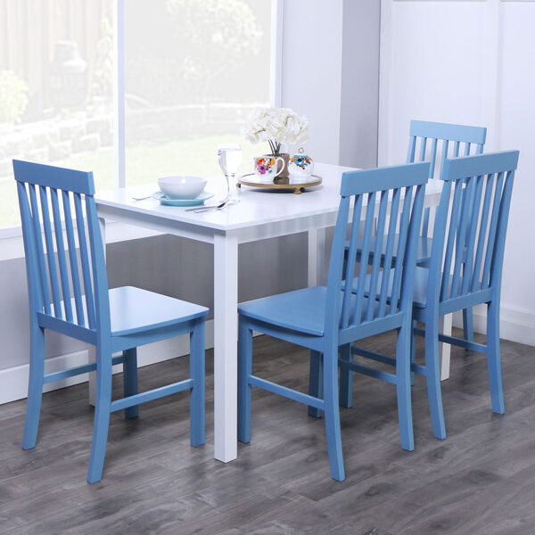 Greyson 5-Piece Dining Set - White/Powder Blue, image 1