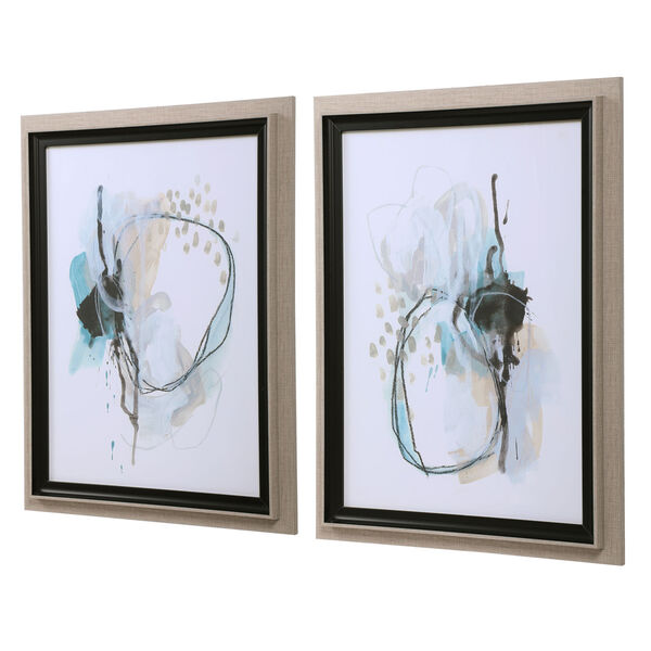 Force Reaction Gray and Blue Abstract Prints, Set of 2, image 4