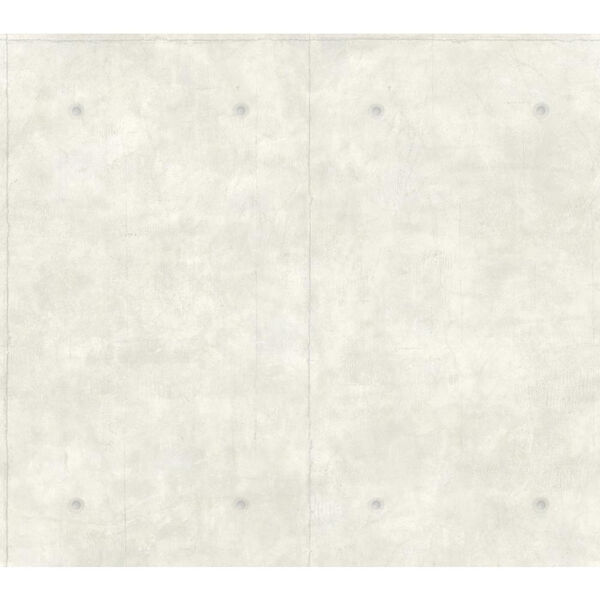 Concrete White and Gray Removable Wallpaper, image 1