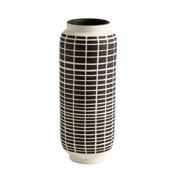 Black and White 5-Inch Graphic Gourd Vase, image 3