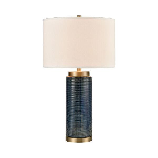 Concettas Blue Navy Blue Antique Brass One-Light Table Lamp, image 1