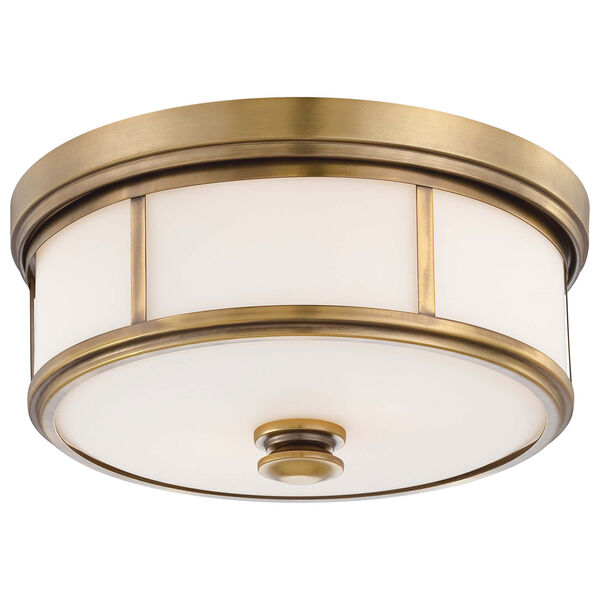 Harbour Point Liberty Gold Two-Light Flush Mount, image 1