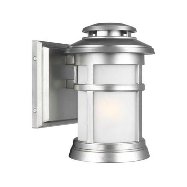 Chelmsford Painted Brushed Steel 6-Inch One-Light Outdoor Wall Lantern, image 1