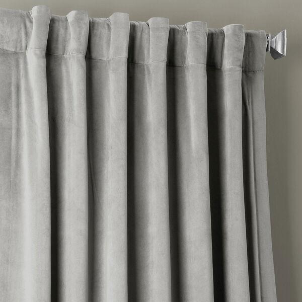 Signature Silver Grey Blackout Velvet Pole Pocket Single Panel Curtain, 50 X 108, image 4