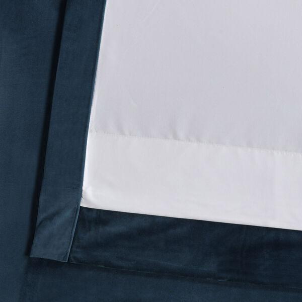 Blue 108 x 50 In. Plush Velvet Curtain Single Panel, image 6