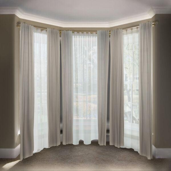 Eleanor Antique Brass 108-Inch Bay Window Double Curtain Rod, image 2