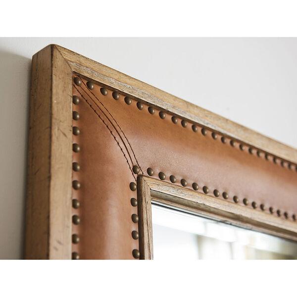 Los Altos Brown Dominica Leather Rectangular Mirror, image 3