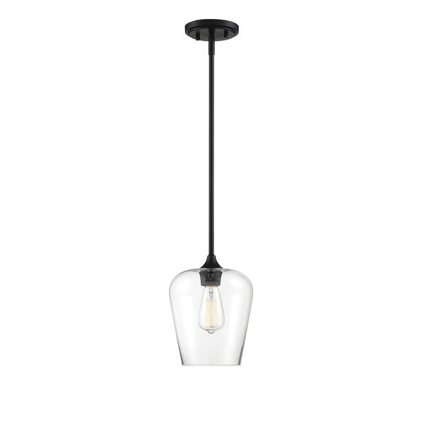 Octav Black One-Light Mini Pendant, image 1