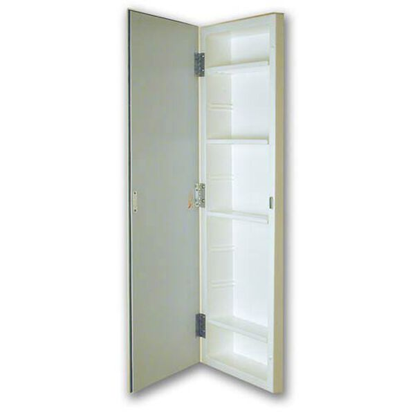 12 x 36 Polished Edge Mirror Recessed Styrene Medicine Cabinet, image 1