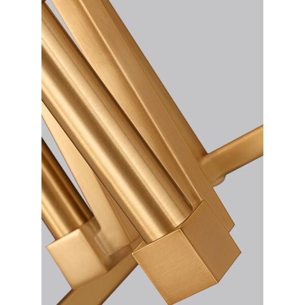 Conant Gilded Satin Brass 18-Inch Four-Light Pendant, image 4