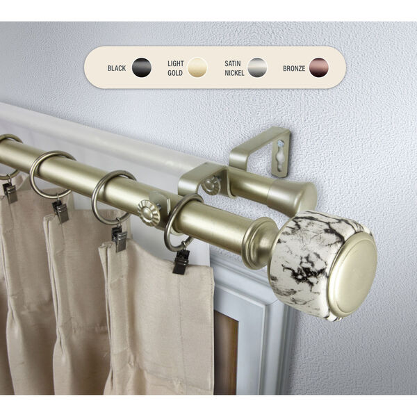 Josephine Gold 120-170 Inch Double Curtain Rod, image 1