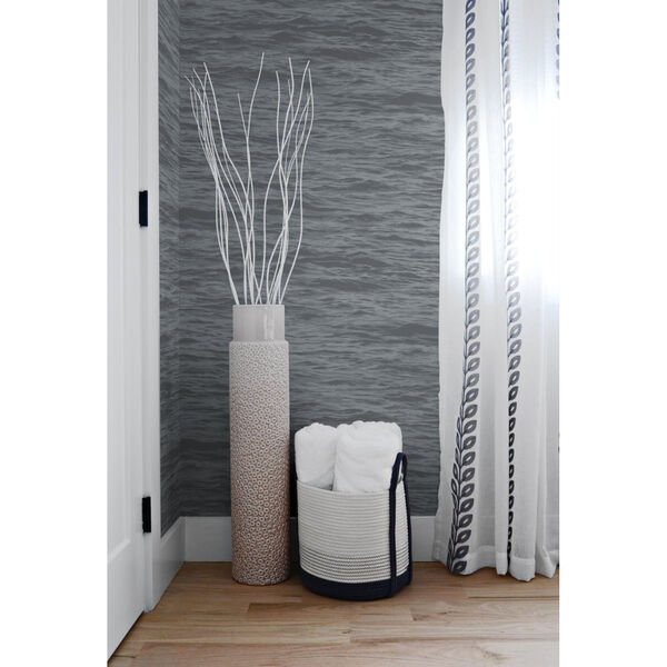 NextWall Gray Serene Sea Peel and Stick Wallpaper, image 1