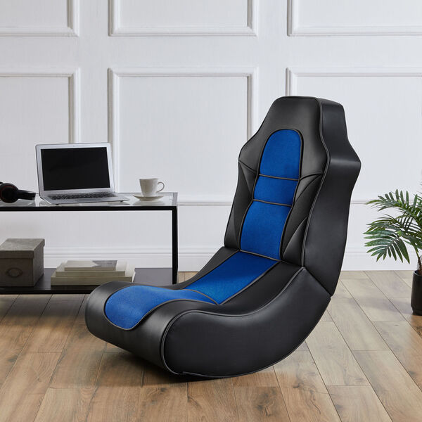 Noah Black and Blue Game Rocking Chair, image 3