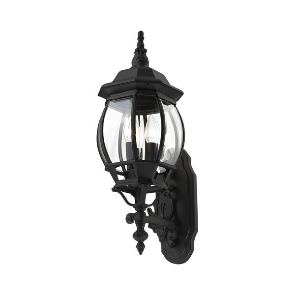 Frontenac Textured Black 22-Inch Three-Light Outdoor Wall Sconce, image 3