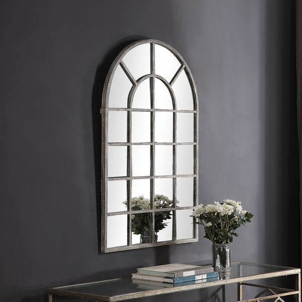 Grace Arched Rustic Gray Mirror, image 4