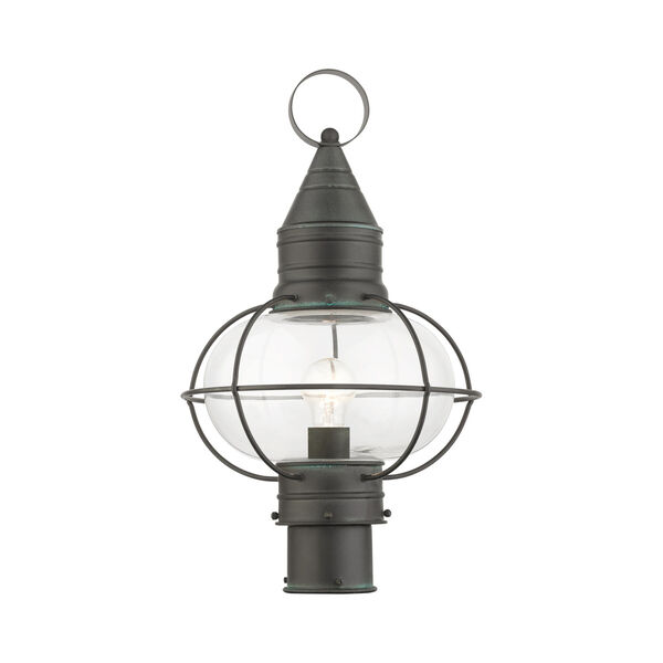 Newburyport Charcoal 11-Inch One-Light Outdoor Post Lantern, image 1