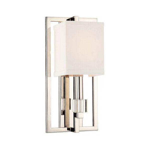 Langdon Polished Nickel One-Light Wall Sconce, image 1