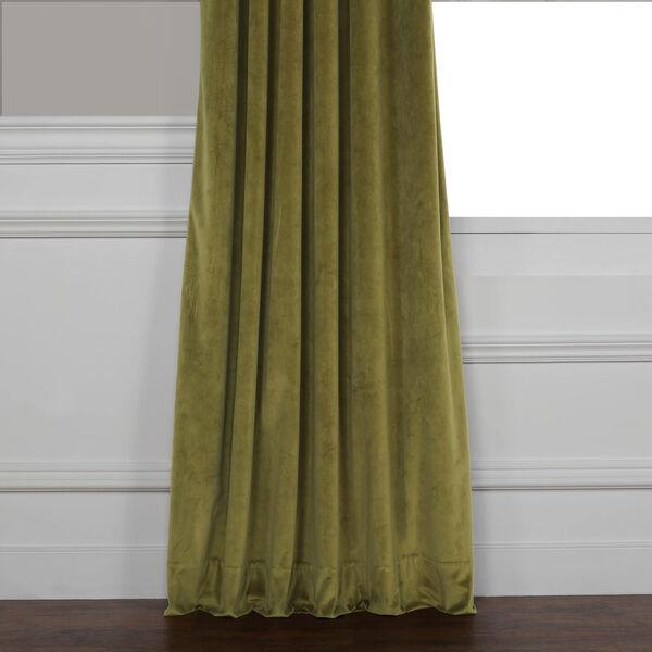 Green 84 x 50 In. Plush Velvet Curtain Single Panel, image 10