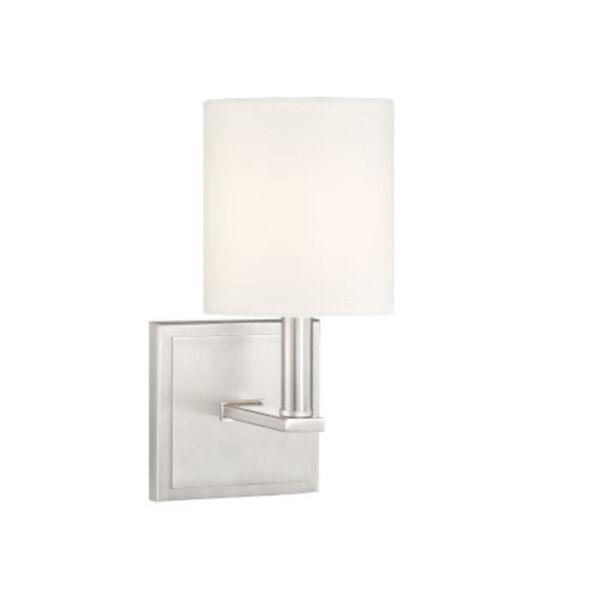 York Satin Nickel One-Light Wall Sconce, image 1