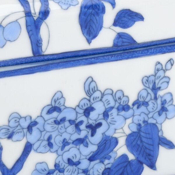 Blue and White Nine-Inch Bird Decorative Box, image 2