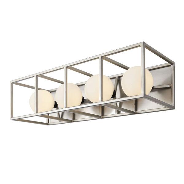 Plaza Silverado And Carbon Four-Light LED ADA Bath Vanity, image 2